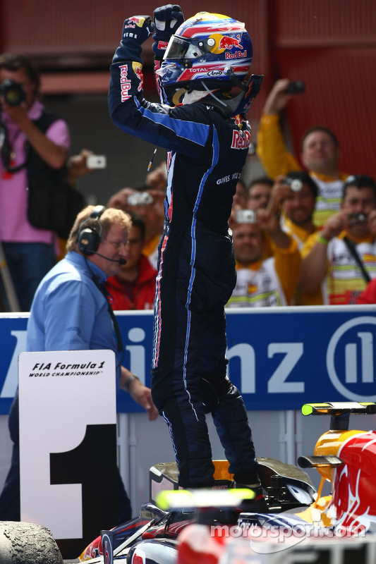 Race winnaar Mark Webber, Red Bull Racing