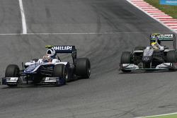 Nico Hulkenberg, Williams F1 Team and Nico Rosberg, Mercedes GP