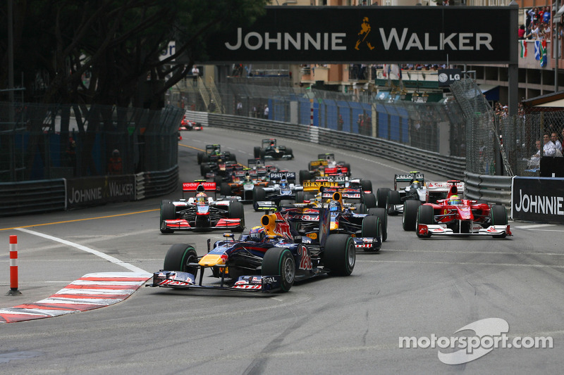 Start of the race, Mark Webber, Red Bull Racing