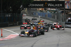 Start van de race, Mark Webber, Red Bull Racing