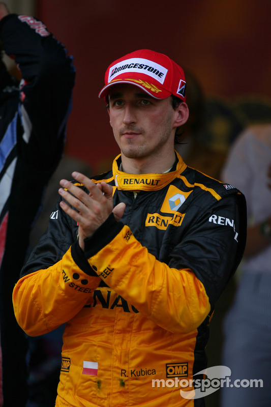 Podium: 3de Robert Kubica, Renault F1 Team