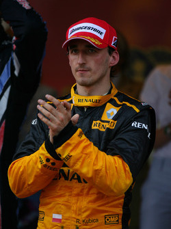Podium: 3e Robert Kubica, Renault F1 Team