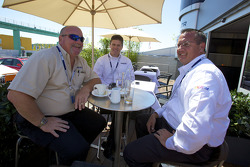 NASCAR Grand-Am series' Mark Raffauf, Managing Director of Competition, Dave Spitzer, Vice President of Competition, and David Pettit, Director of Sales and Partnership, are special guests of ITR