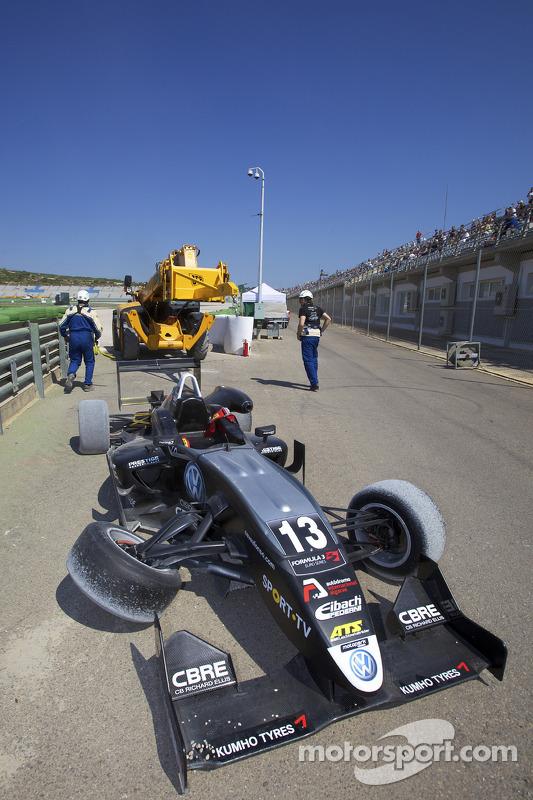 Crash: Antonio Felix da Costa, Motopark Academy Dallara F308 Volkswagen