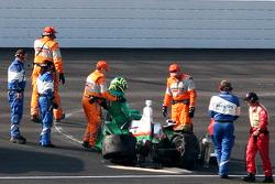 Trouble for Tony Kanaan, Andretti Autosport