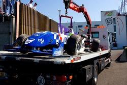 Wrecked car of James Calado