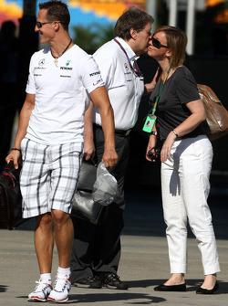 Michael Schumacher, Mercedes GP, Norbert Haug, Mercedes, Chef du Sport automobile, Sabine Kehm, Porte parole de Michael Schumacher