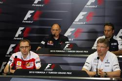 Stefano Domenicali Ferrari Direktörüü, Franz Tost, Scuderia Toro Rosso, Takım Patronu, Ross Brawn Takım Patronu, Mercedes GP, Adam Parr, Williams F1 Team