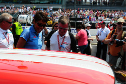 Robin Roberts and Johnny Rutherford