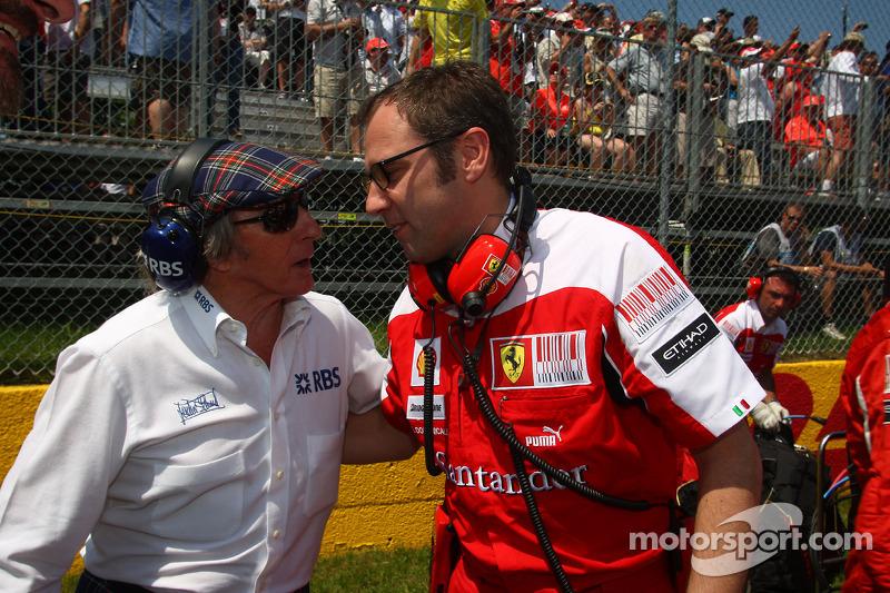 Sir Jackie Stewart met Stefano Domenicali, Ferrari General Director