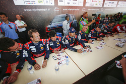 Hyundai Motorsport drivers during the autograph session