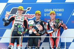 Podium: race winner Johann Zarco, Ajo Motorsport, second place Lorenzo Baldassarri, Forward Racing, third place Sam Lowes, Federal Oil Gresini Moto2