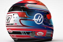 Capacete de Romain Grosjean com homenagem a Jules Bianchi