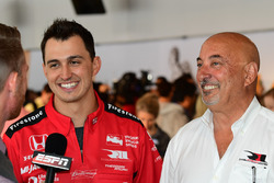 Graham Rahal, Rahal Letterman Lanigan Racing Honda with Bobby Rahal