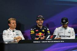 Press Conference: polesitter Daniel Ricciardo, Red Bull Racing, second place Nico Rosberg, Mercedes AMG F1 Team, third place Lewis Hamilton, Mercedes AMG F1 Team