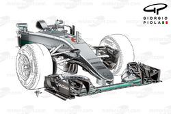 Mercedes F1 W07: Nase, Grand Prix von Monaco