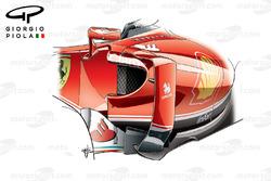 Ferrari SF16H side pods, Spanish GP