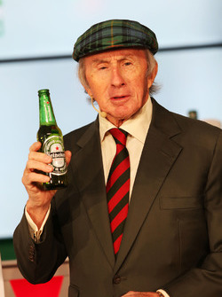 Jackie Stewart, at a Heineken sponsorship announcement