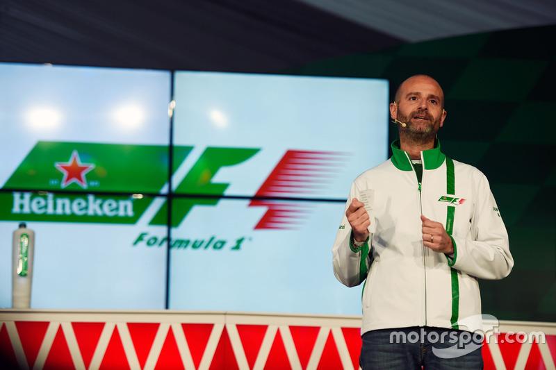 Джанлука ди Тондо, глава бренда Heineken во время объявления о начале спонсорства Heineken