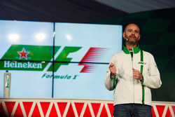 Gianluca di Tondo, Heineken Global Head of Brand, at a Heineken sponsorship announcement