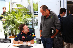 (L to R): Christian Horner, Red Bull Racing Team Principal with Gerhard Berger