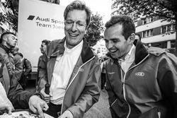 Audi Sport Team Joest : le team manager Ralf Jüttner et Benoit Tréluyer