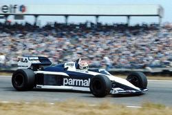Nelson Piquet com a Brabham BMW BT52 de 1983.