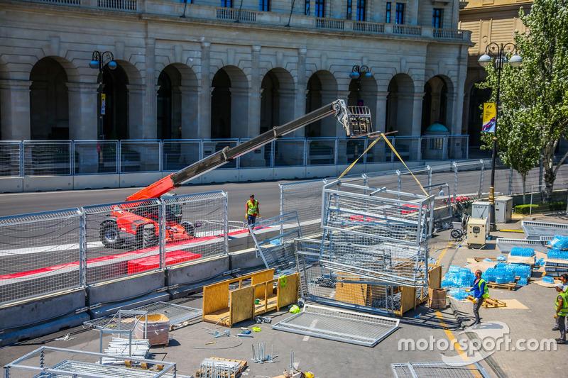 Baku, preparativi del circuito cittadino