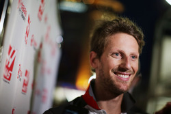 Romain Grosjean, Haas F1 Team with the media