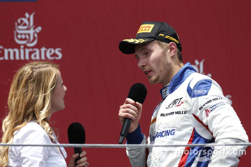 Segundo lugar Sergey Sirotkin, ART Grand Prix