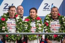 LMP1 podium: second place #6 Toyota Racing Toyota TS050 Hybrid: Stéphane Sarrazin, Mike Conway, Kamui Kobayashi