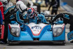 Pit stop for #28 Pegasus Racing Morgan Nissan: Inès Taittinger, Remy Streibig, Leo Roussel