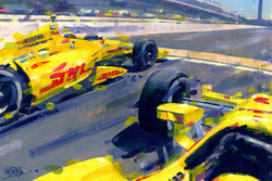 2014 Indy 500 finish - Ryan Hunter Reay dan Helio Castroneves