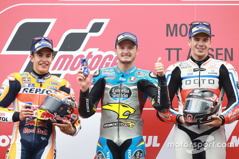 2016: 1. Jack Miller, 2. Marc Marquez, 3. Scott Redding