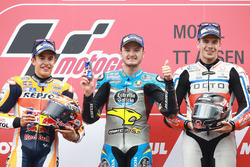 Podium: winnaar Jack Miller, Marc VDS Racing Honda, 2e plaats Marc Marquez, Repsol Honda Team, 3e plaats Scott Redding, Pramac Racing