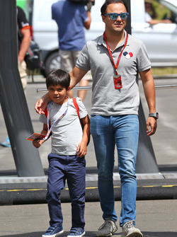 Felipe Massa, Williams con su hijo Felipinho Massa