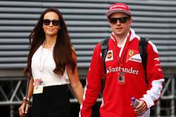 Kimi Raikkonen, Ferrari with his wife Minttu Virtanen