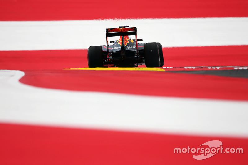 Max Verstappen, Red Bull Racing RB12 se va de ancho