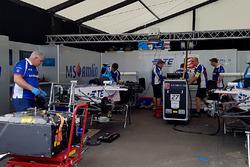 Pits of Amlin Andretti Formula E Team