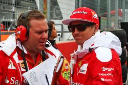 Kimi Raikkonen, Ferrari con Dave Greenwood, Ferrari