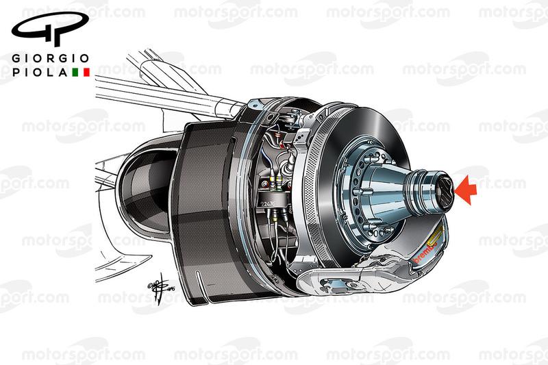 Haas VF16: Vorderachse