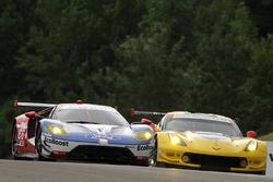 #66 Chip Ganassi Racing Ford GT: Joey Hand, Dirk Müller, #3 Corvette Racing Chevrolet Corvette C7.R: Antonio Garcia, Jan Magnussen