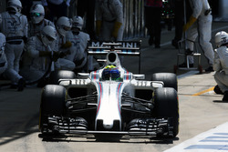 Felipe Massa, Williams FW38 hace una parada en boxes