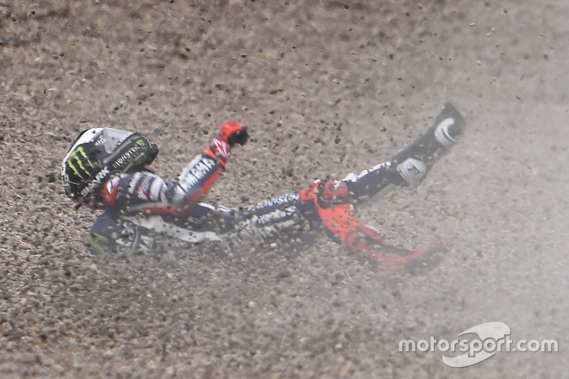 Jorge Lorenzo, Yamaha Factory Racing accidente