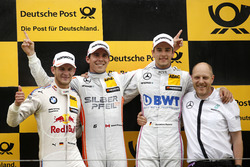 Podium: Race winner Robert Wickens (CAN) Mercedes-AMG Team HWA, Mercedes-AMG C63 DTM; second place Marco Wittmann (GER) BMW Team RMG, BMW M4 DTM; third place Christian Vietoris (GER) Mercedes-AMG Team Mücke, Mercedes-AMG C63 DTM