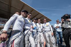 Maximilian Götz, Mercedes-AMG Team HWA, Mercedes-AMG C63 DTM, Esteban Ocon (FRA) Mercedes-AMG Team ART, Mercedes-AMG C 63 DTM, Gary Paffett, Mercedes-AMG Team ART, Mercedes-AMG C63 DTM, Robert Wickens, Mercedes-AMG Team HWA, Mercedes-AMG C63 DTM, Daniel Ju