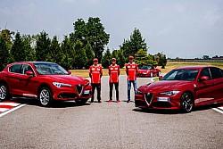 Vettel e Kimi Alfa Romeo Giullia