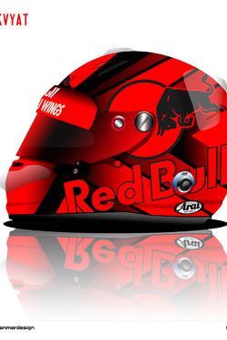 Daniil Kvyat Helmet 2