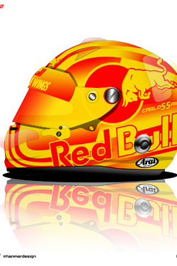 Carlos Sainz jr helmet design
