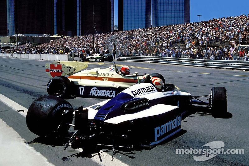 Nelson Piquet and Marc Surer crash